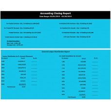 Accounting Closing Report